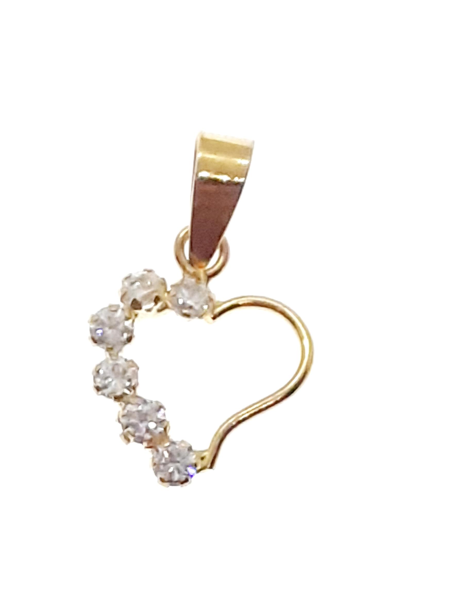 Sensi joyas jewellery Granada silver engagement18K GOLD AND ZIRCONS  PENDANT